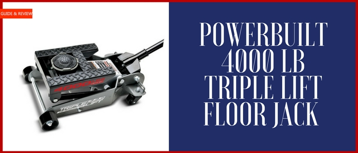 Powerbuilt 4000 lb triple lift floor Jack