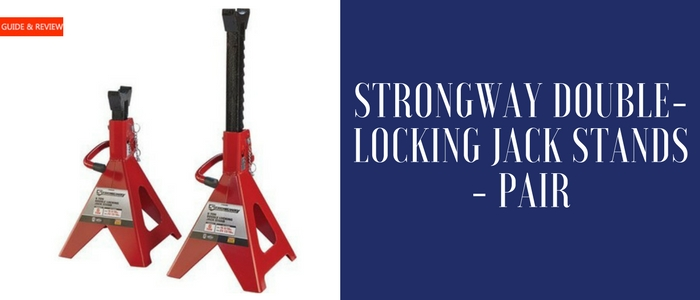 Pair Strongway Double-Locking 3-Ton Jack Stands
