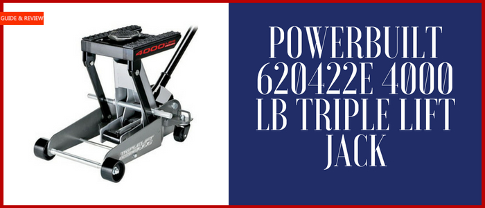 Powerbuilt 620422E 4000 lb Triple Lift Jack